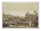 Grand Procession for the Serpent Festival, Ouidah, Dahomey Giclee Print by Gallo Gallina