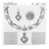 Insignia of the Order of Knighthood The Star of India, from 'The Illustrated London News' Giclee Print