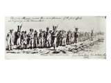 Hobart Town Chain Gang, C.1831 Giclee Print by Charles Bruce