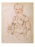 Sketch of a Seated Woman Giclee Print by  Michelangelo Buonarroti