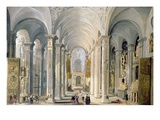 Interior of a Church Giclee Print by Francois de Nome
