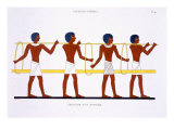 Carrying Method, from a Rare Record of Frescoes from Thebes, recorded 1819-1822 Giclee Print by Frederic Cailliaud