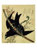 The Little Raven with the Minamoto Clan Sword, c.1823 Giclée-Druck von Katsushika Hokusai