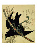 The Little Raven with the Minamoto Clan Sword, c.1823 Giclee Print by Katsushika Hokusai