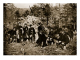 Officers of the 164th and 170th New York Volunteers, 1861-65 Giclee Print by Mathew Brady & Studio