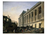 The Clearing of the Louvre Colonnade, 1764 Giclee Print by Pierre-Antoine Demachy