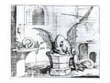 A Dragon in a Workshop Giclee Print