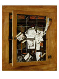 A Trompe l&#39;oeil of an Open Glazed Cupboard Door, 1666 Giclee Print by Cornelis Norbertus Gysbrechts