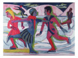 Ice Skaters Giclee Print by Ernst Ludwig Kirchner