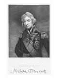 Portrait of Admiral Horatio Nelson with his Signature, engraved by John Cochran Giclee Print by John Hoppner