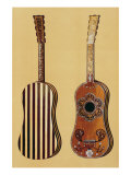 Guitar Inlaid with Mother-of-pearl, from 'Musical Instruments' Giclee Print by Alfred James Hipkins