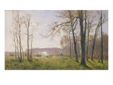 A Clearing in an Autumnal Wood, 1890 Giclee Print by Max Kuchel