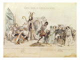 The Great Academic Competition, caricature of the Academie Francaise Giclee Print by Grandville