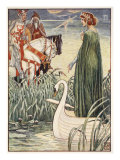 King Arthur asks the Lady of the Lake for the sword Excalibur, from 'Stories of the Knights of the  Giclee Print by Walter Crane