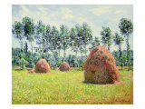 Haystacks at Giverny, 1884 Lámina giclée por Claude Monet