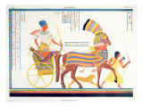 Pharaoh in a Chariot, 1835-45 Giclee Print by Jean Francois Champollion