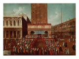 Public Lottery at the Loggetta, the Piazza San Marco, Venice Giclee Print by Gabriele Bella
