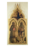 SS. Francis and Onuphrius, Side Panel from The Madonna and Child with the Holy Trinity Tabernacle,  Giclee Print by  Fra Angelico