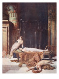 The Death of Cleopatra, Illustration from 'Hutchinsons History of the Nations', C.1910 Giclee-vedos tekijänä John Collier