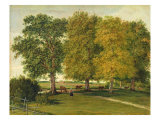 Herder with Cattle beneath Autumnal Trees, c.1821 Giclee Print by Wilhelm Alexander Kobell