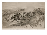 The Disaster at Koornspruit: Driverless Teams Stampeding, 1900 Giclee Print by John Charlton