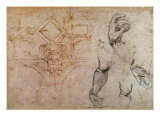Scheme for the Sistine Chapel Ceiling, c.1508 Giclee Print by  Michelangelo Buonarroti