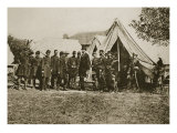 President Lincoln Visiting the Camp at Antietam, 1892 Giclee Print by Mathew Brady