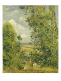 A Rest in the Meadow, 1878 Reproduction procédé giclée par Camille Pissarro
