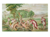 The Flaying of Marsyas, c.1616-18 Giclee Print by  Domenichino