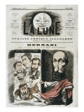Caricature of 'Hernani', Illustration from the Front Cover of 'La Lune' Giclee Print by Andre Gill