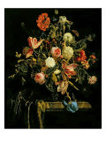 Flower Still Life, 1706 Giclee Print by Jan van Huysum