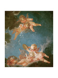 Winter, from a Series of the Four Seasons in the Salle du Conseil Giclee Print by Francois Boucher