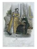 Fashion Plate, Paris, Illustration from 'Le Moniteur De La Mode', Engraved by Lecomte, 1845 Giclee Print by Jules David