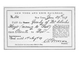 Train Pass on the New York and Erie Railroad, 29th June 1859 Giclee Print