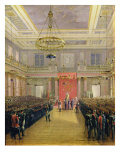 The Oath of the Successor to the Throne Alexander II Nickolaevich in the Winter Palace, 1837 Giclee Print by Grigori Grigor&#39;evich Chernetsov