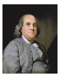 Portrait of Benjamin Franklin Giclee Print by Joseph Siffred Duplessis