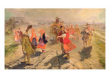 Wedding Procession in the Orel Region Giclee Print by Vladimir Egorovic Makovsky