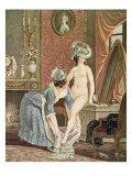 La Toilette, Engraving by Louis Marin Bonnet Giclee Print by Nicolas Rene Jollain