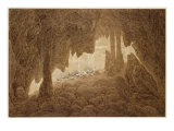 Skeleton in the Cave Giclee Print by Caspar David Friedrich