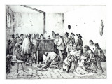 The Public Warming Room in Paris, 1840 Giclee Print by Victor Adam
