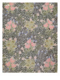Wallpaper design with Tulips, Daisies and Honeysuckle Giclee Print by William Morris