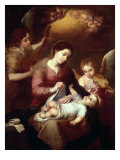 Madonna Wrapping the Christ Child in Swaddling Robes Giclee Print by Bartolome Esteban Murillo