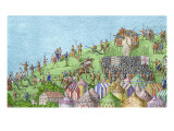 The Encampment of the English Forces Near Portsmouth During the Battle of the Solent Giclee Print by James Basire