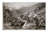 The Dash for Kimberley - the 10th Hussars Crossing Klip Drift, after a Sketch by G.D. Giles Giclee Print by John Charlton