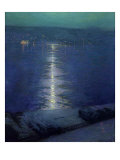 Moonlight on the River, 1919 Giclee Print by Lowell Birge Harrison