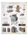 Electricity, illustrations of Natural Philosophy, published in 'Popular Diagrams' Giclee Print by John Emslie
