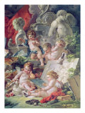 Genius Teaching the Arts, 1761 Giclee Print by Francois Boucher