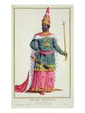 King Chau-Haraye of Siam Giclee Print by Pierre Duflos