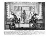 Plate Engravers Working with Gallery Behind, 1643 Giclee Print by Abraham Bosse