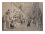 Vatican Museums, Chiaramonti Gallery and the Braccio Nuovo Gallery, Rome, Illustration Giclee Print by Felix Benoist